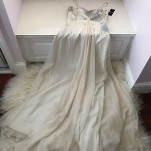 Posh Ivory Embellished Gown